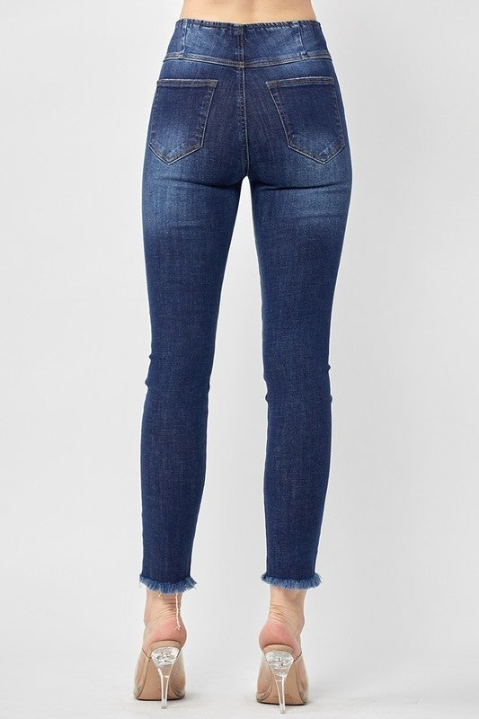 PLUS/REG Proud Of You Skinny Jeans - Dark Wash