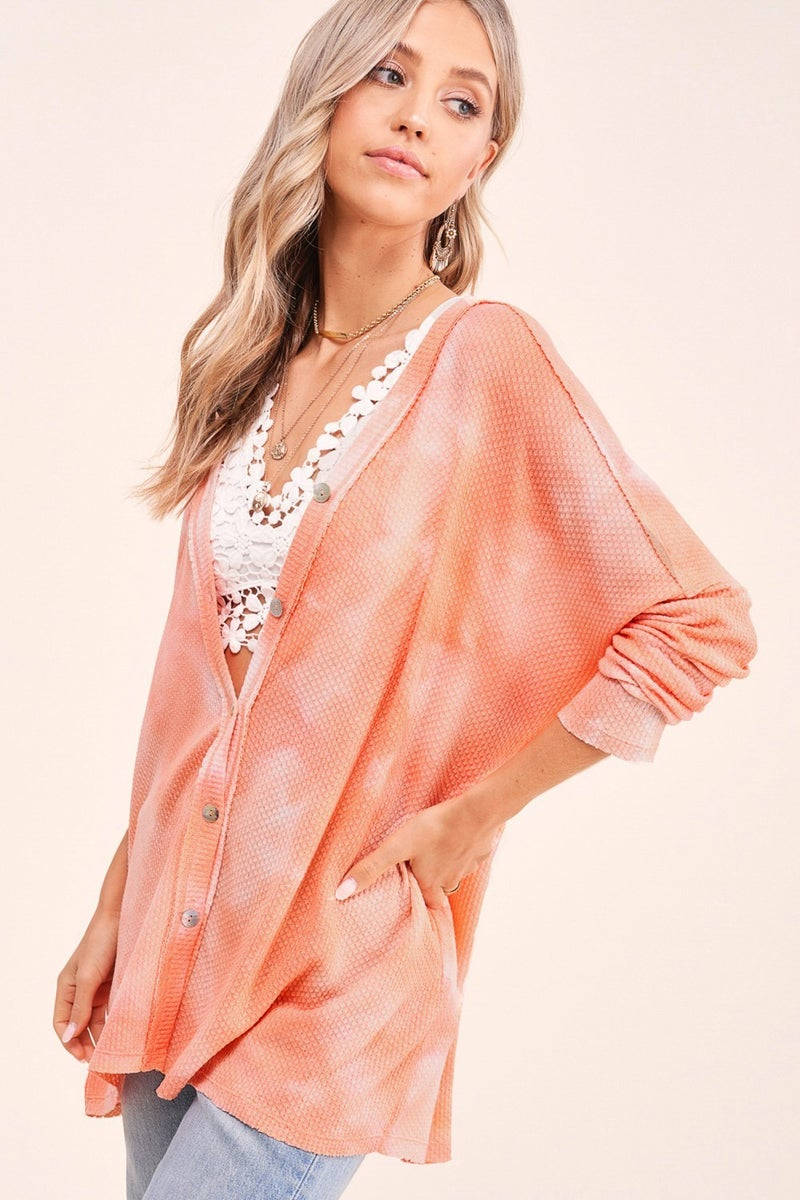Focus On The Good Cardigan - Coral