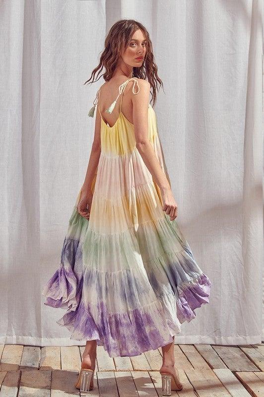 Your Lucky Day Maxi Dress - Rainbow