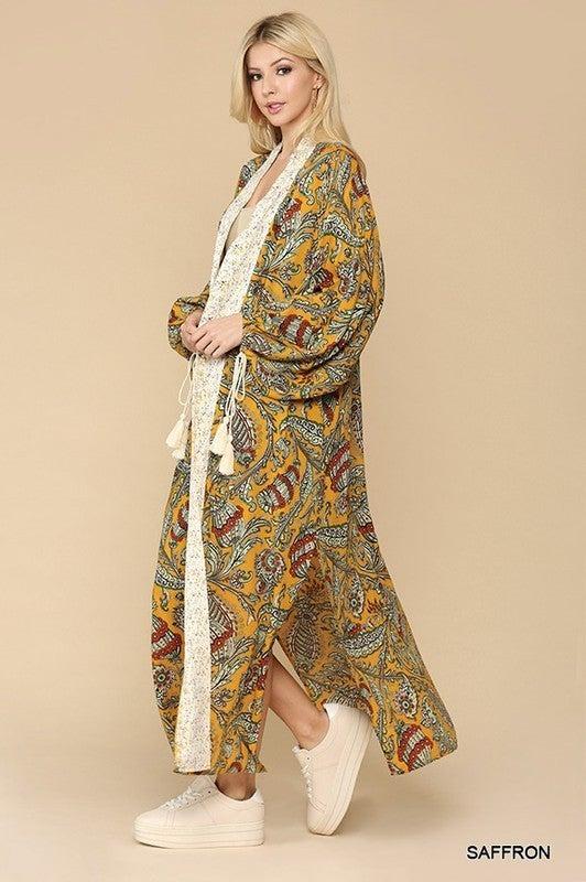 Paisley Days Kimono - Saffron
