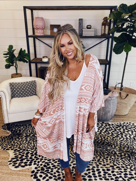 Cover Me Up Cardigan-Peach