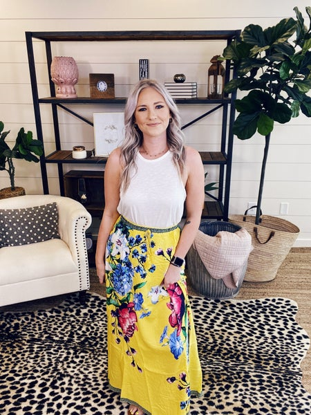 Brunch Time Maxi Skirt - Yellow