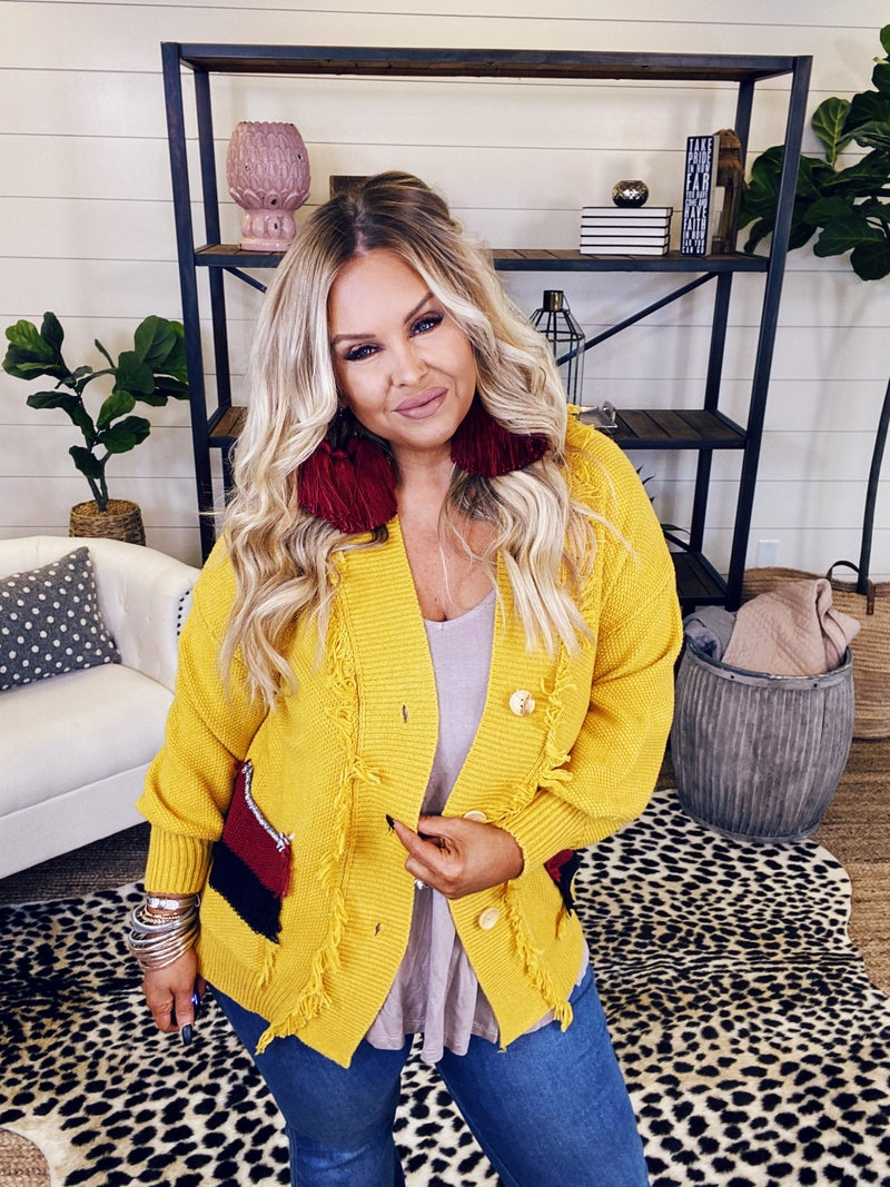 Must Have Mustard Cardigan