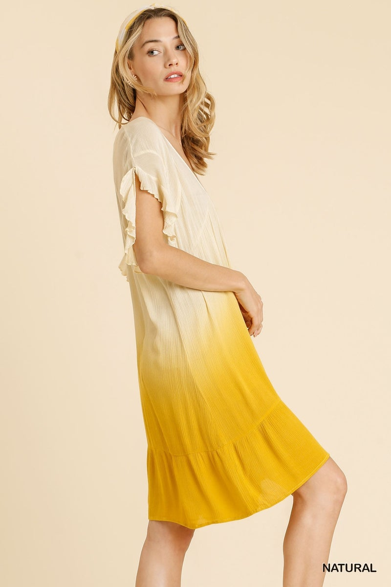Walking On Sunshine Dress - Natural
