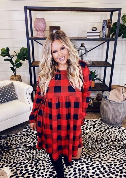 PLUS/REG Baby Loves Plaid Dress