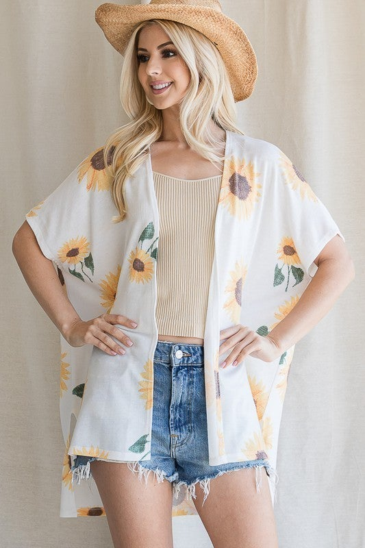Field Of Sunflowers Cardigan - Off White
