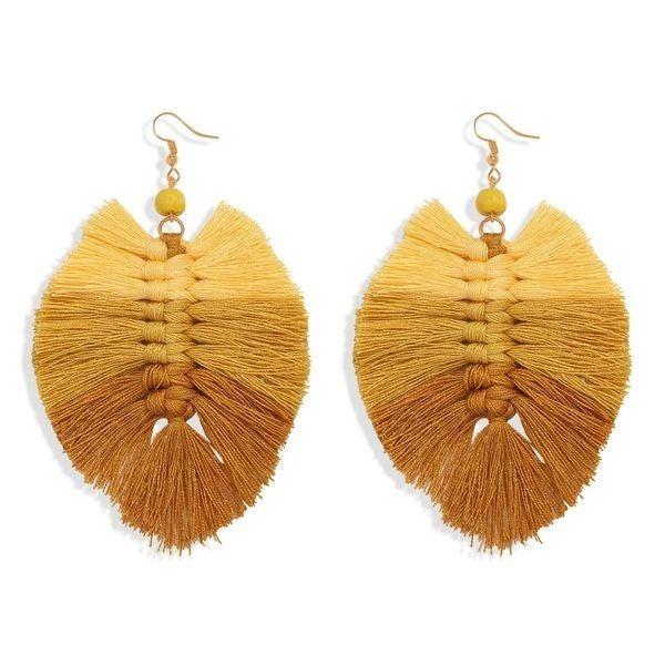 Your Biggest Fan Earrings - Yellow