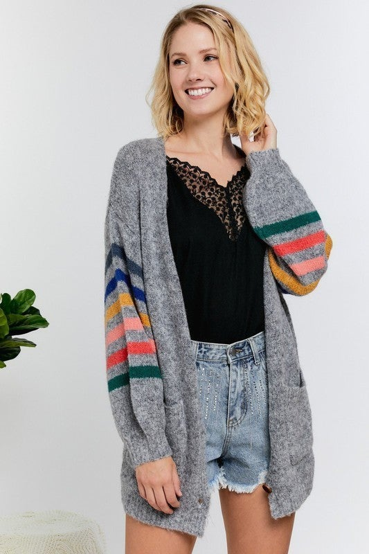 Over the Rainbow Cardigan - Charcoal Grey