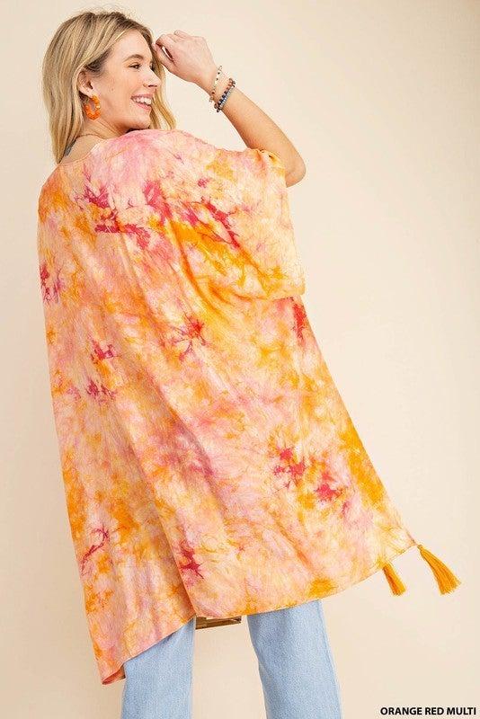 You've Got This Kimono - Orange Red Multi