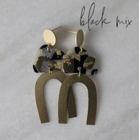 Emily Earrings - Black Mix