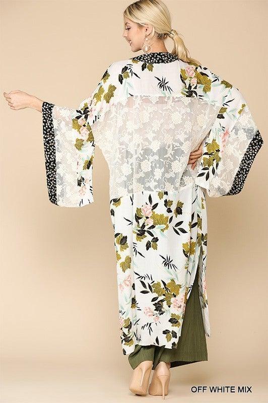 Floral Beauty Kimono - Off White
