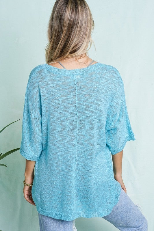 Set You Free Sweater - Turquoise