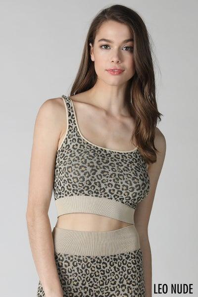 Leopard Bra Top