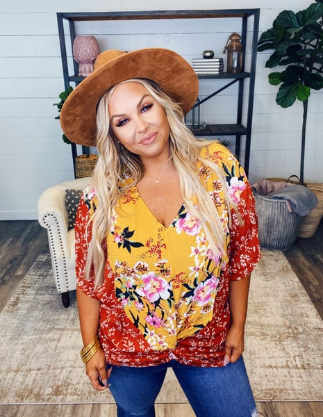 Floral Knotty Top