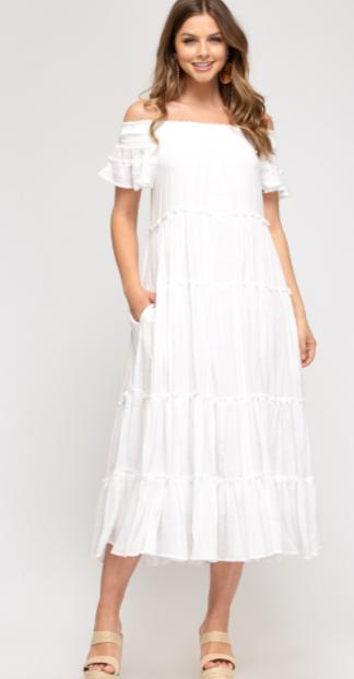 Moon Glow Maxi Dress - Off White