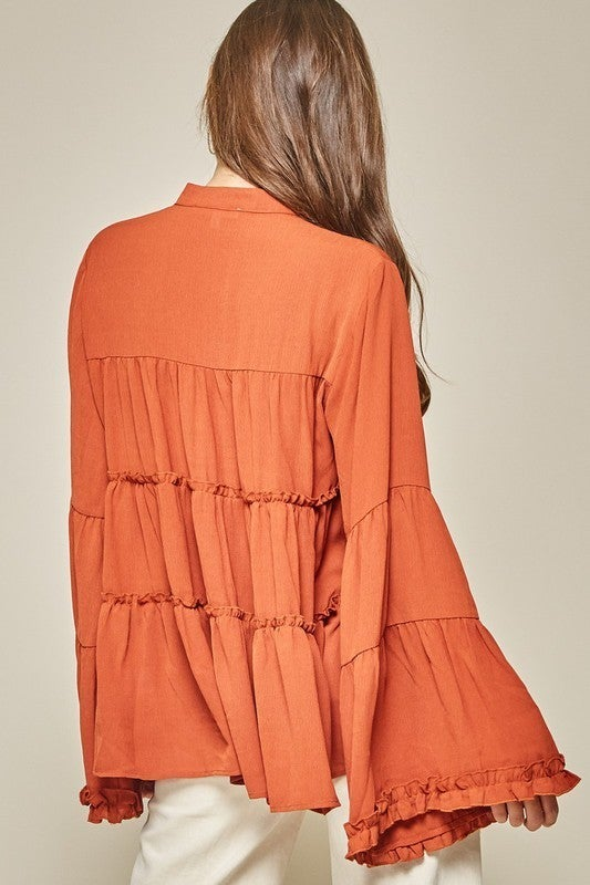 Southern Belle Top - Rust