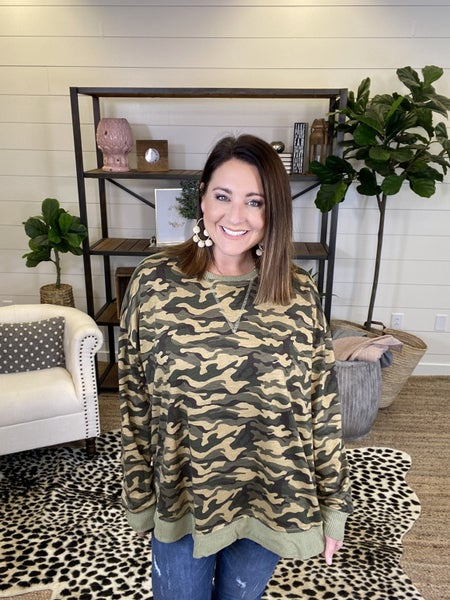 Don't Hide From Me Camo Top - Camo