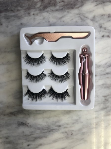 Magnetic Eyelashes and Eyeliner Set