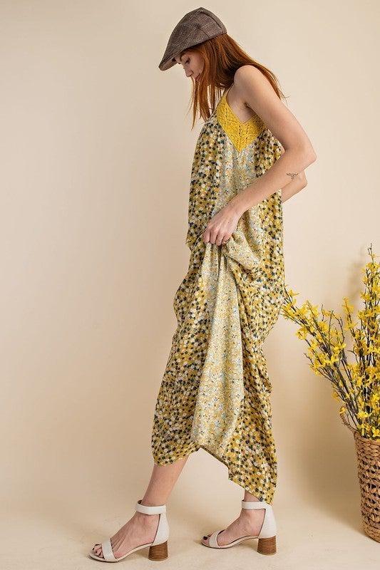 Pretty Days Maxi Dress - Mustard