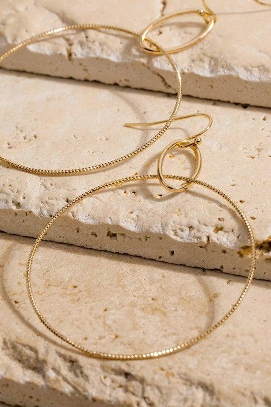 Hoopily In Love Earrings - Gold