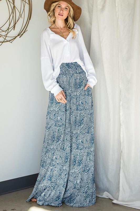Down By The Sea Maxi Pants - Navy