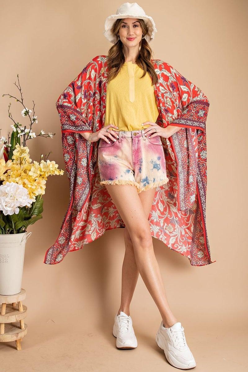 You're The One Kimono - Scarlet