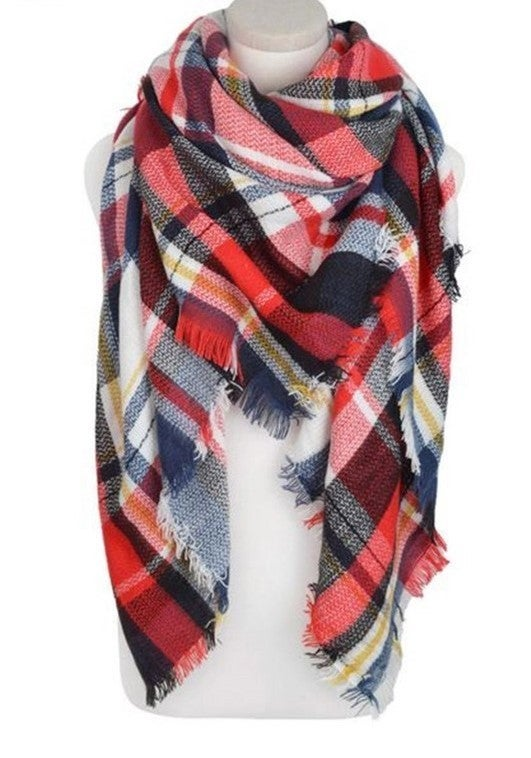 By The Fire Scarf - Red/Black
