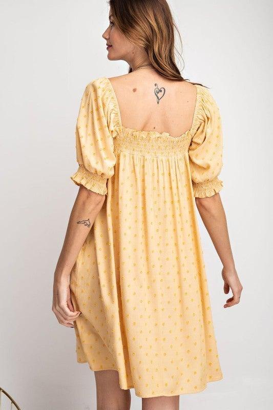 Puff Sleeve Baby Doll Dress