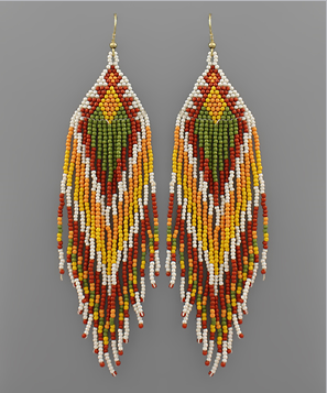 Falling For You Earrings - Mustard
