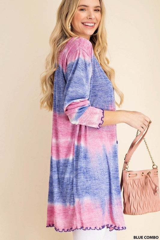 Today Is Tie Dye Duster-Blue