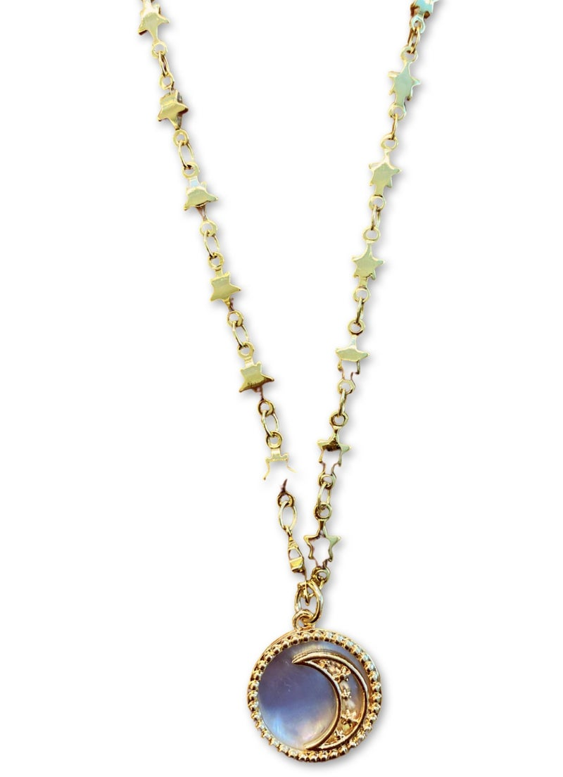 Jennifer Thames Mother of Pearl Moon Necklace