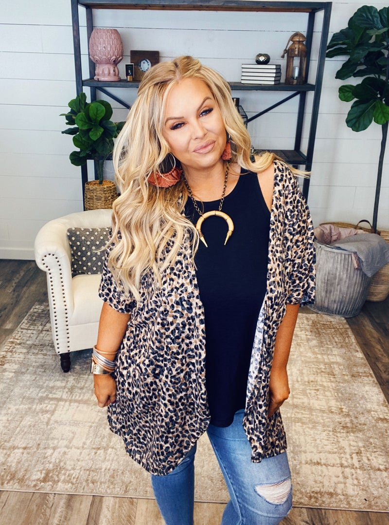 Leaping Leopards Cardigan