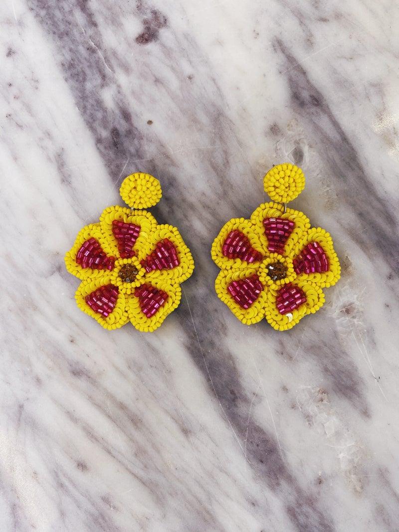 Can't Wait Earrings-Yellow