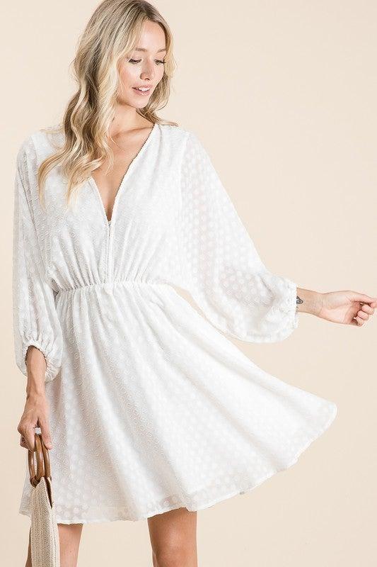 Doting Dots Dress - Off White