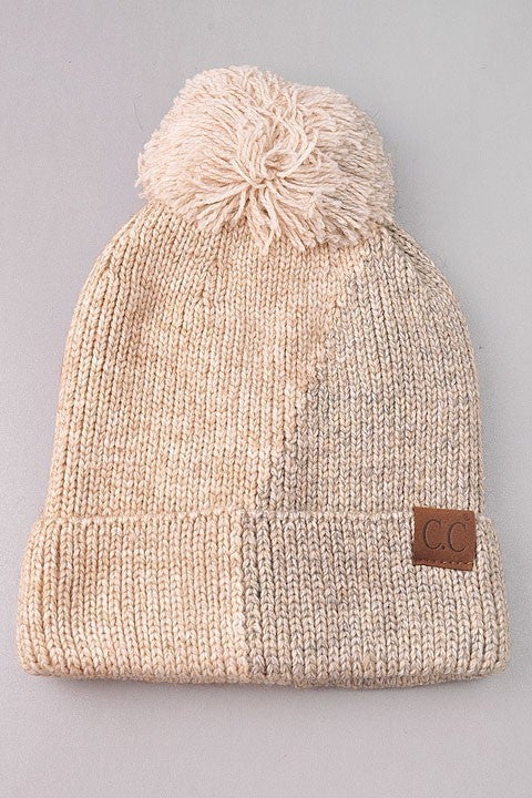 Warm Days Winter Beanie - Beige/Gray