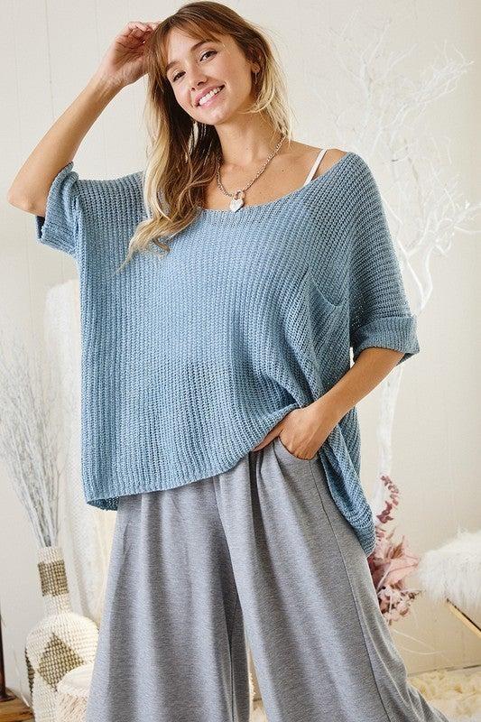 Like Sunday Morning Sweater - Blue