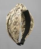 Faux Leather Snakeskin Headband