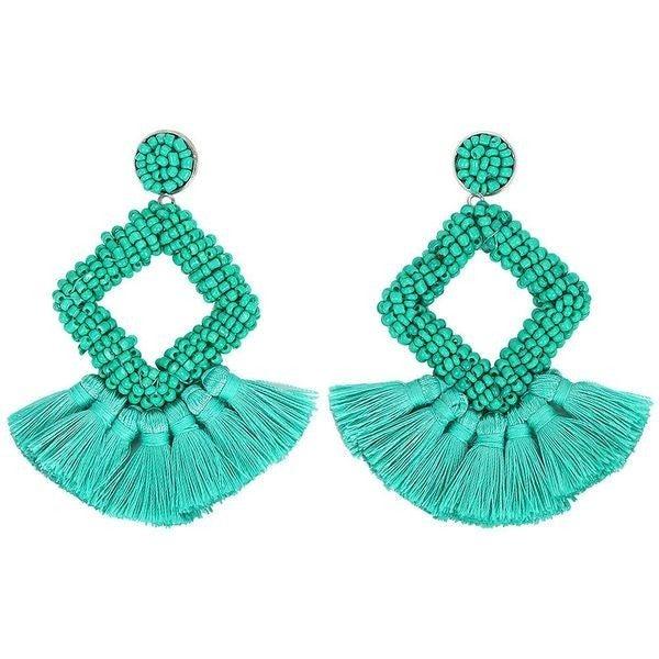 So Frilling Earrings - Green