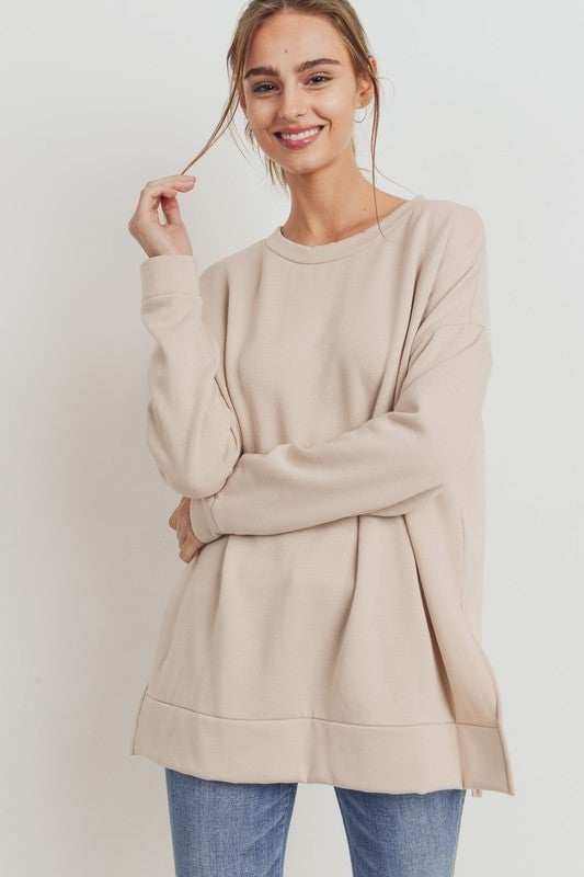 Overcome with Fun Top - Taupe
