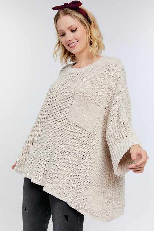 Reg/ Plus Comfy and Cozy Sweater - Taupe