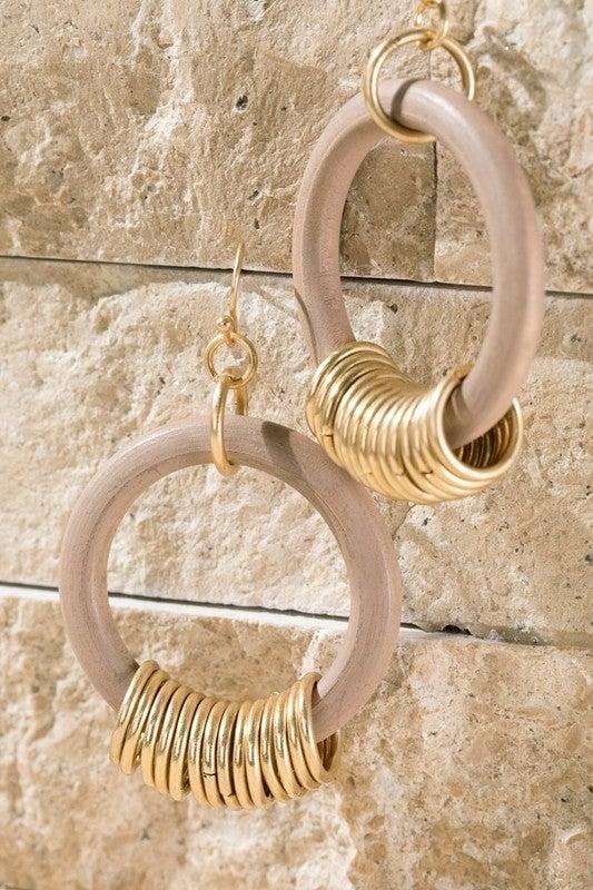 Hoop Me Happy Earrings - Pink