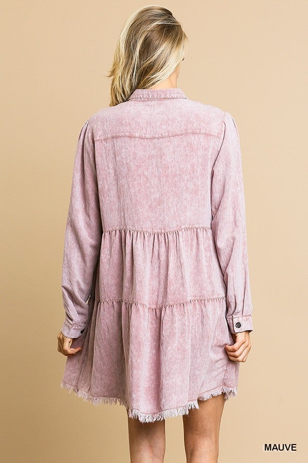 Out On The Town Ruffle Tiered Dress