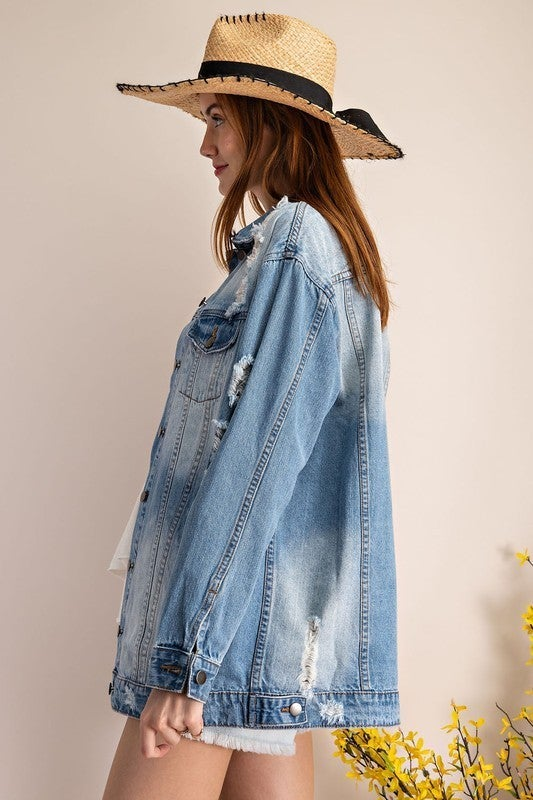 One Of A Kind Jacket - Washed Denim