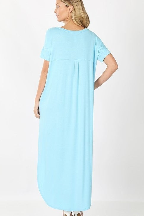 Reg/Plus What Goes Around Dress - Baby Blue