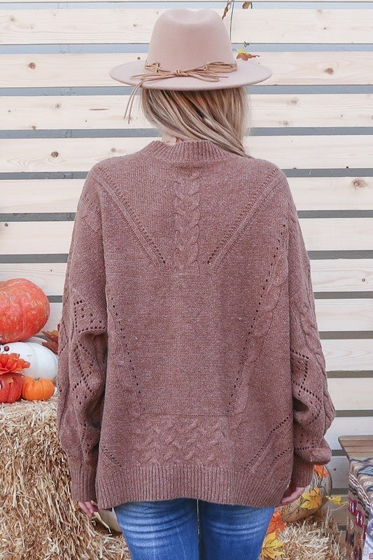 All About Fall Lace Sweater