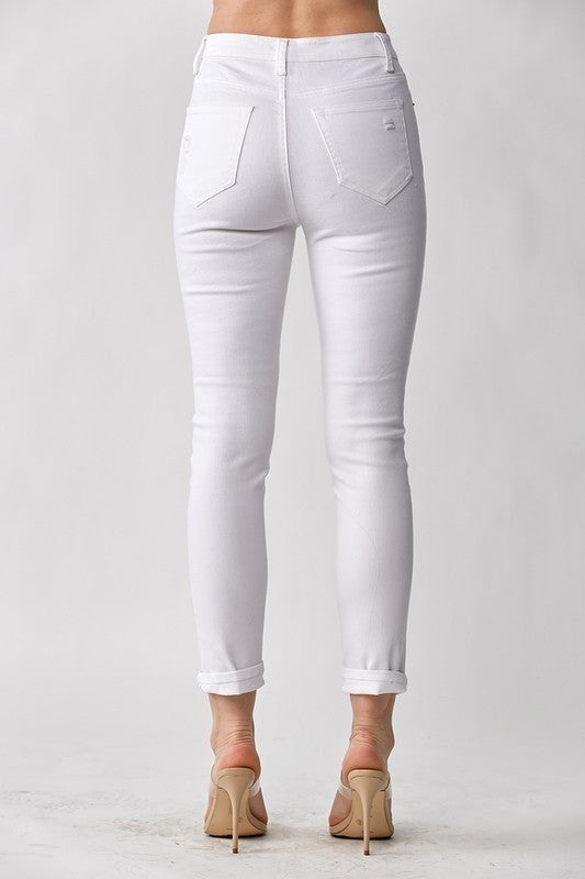 PLUS/REG Pure Heart Distressed Skinny Jeans