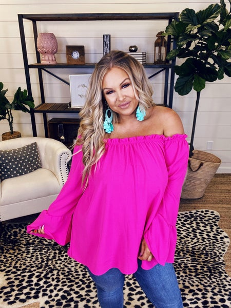 Brighten Up Your Day Top - Hot Pink