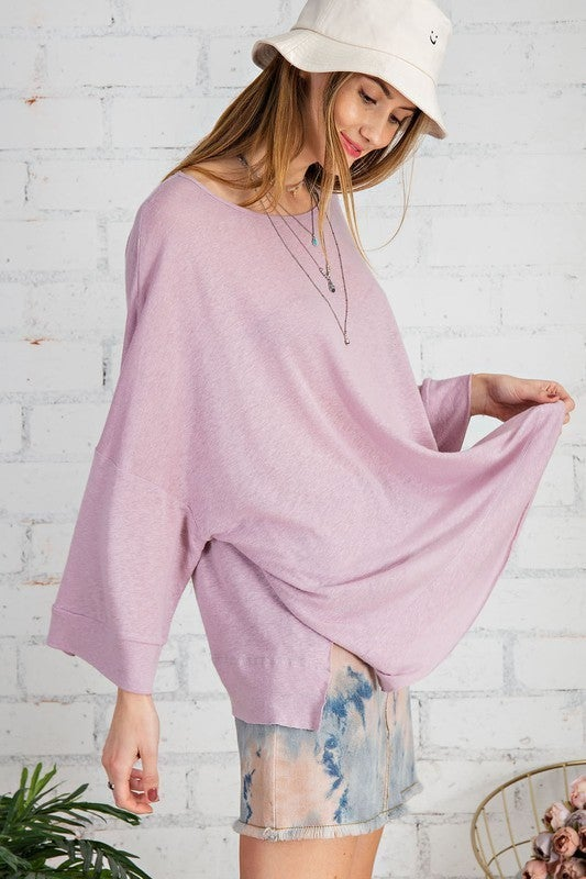 All The Southern Comfort Top - Rose