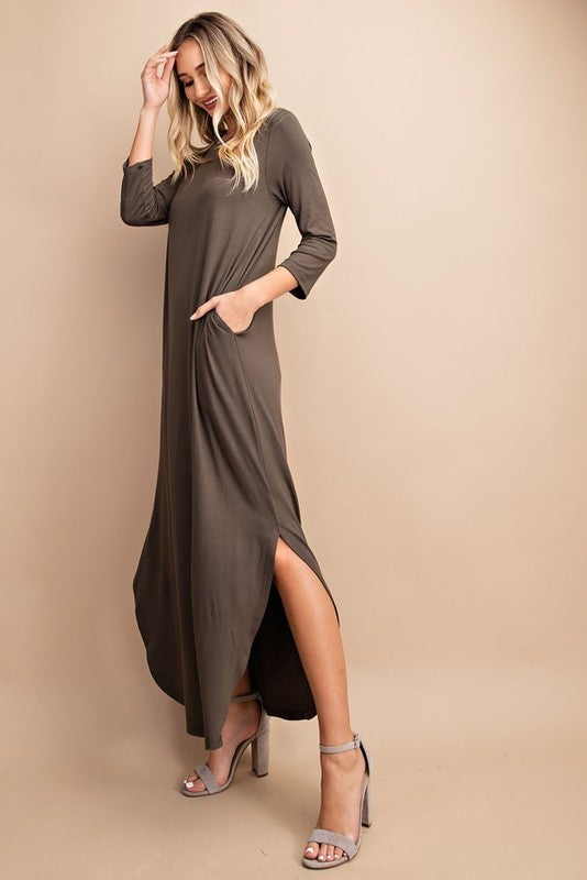 Simply Sensational Dress - Olive