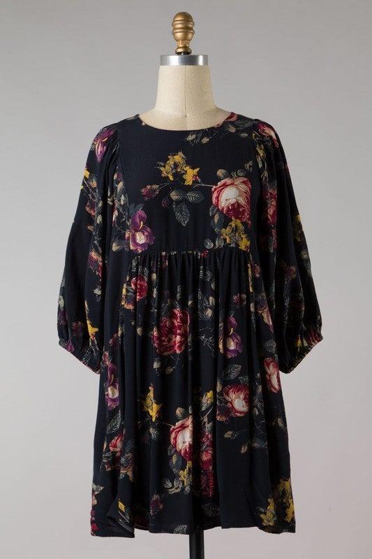 Fall Time Flowers Dress